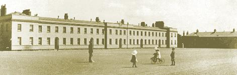 An old photograph of Garda Headquarters, Phoenix Park, Dublin 8