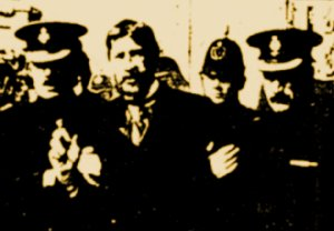 James Larkin disguised in false beard following  his arrest by the DMP